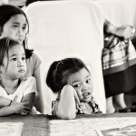 Children watching a performance