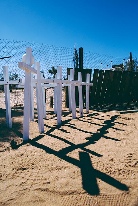 Desert headstones