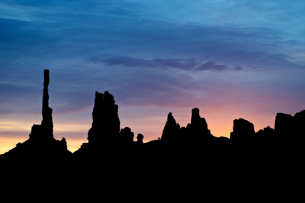 "Sunrise at the Monument Valley ""totem pole"""