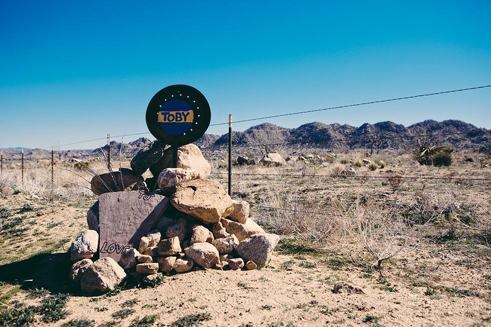 Toby roadside memorial