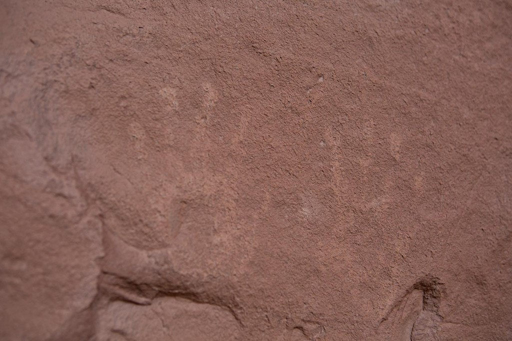 Hand print petroglyphs in Monument Valley