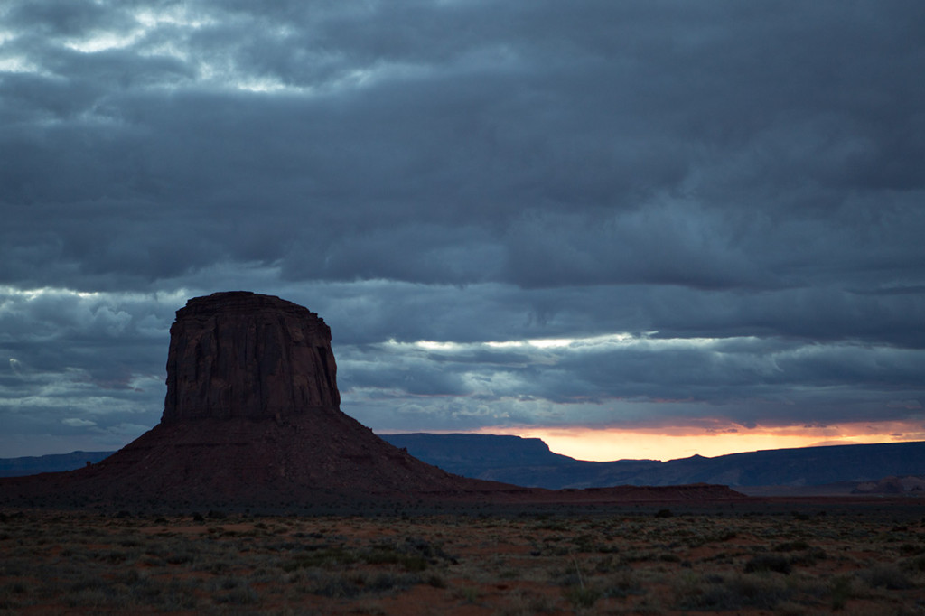 Sunset near Monument Valley