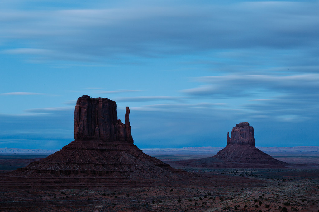 Dusk at the Mittens, Monument Valley