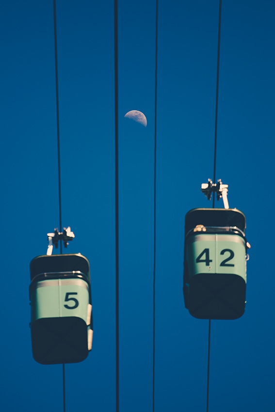 Sky buckets and the moon