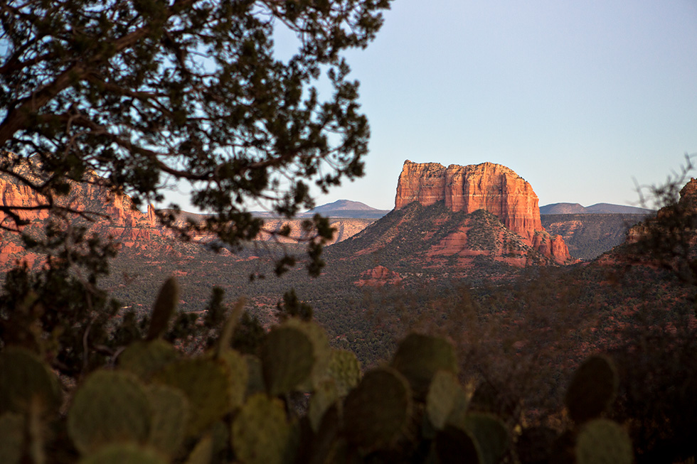 Sedona sunset from Cathedral Rock