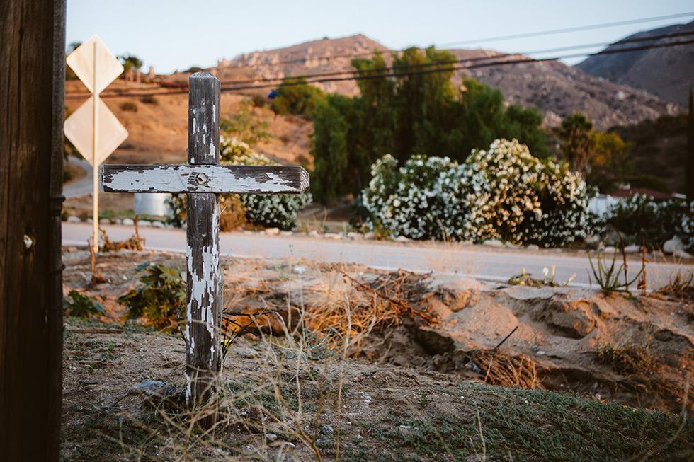 Colton roadside memorial