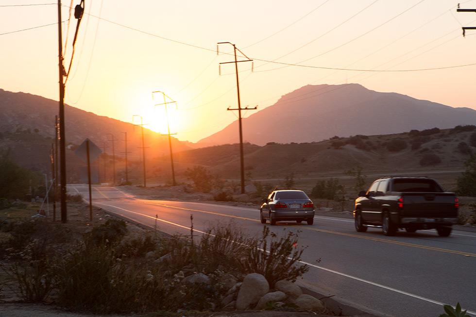 Reche Canyon, Colton, bad drivers