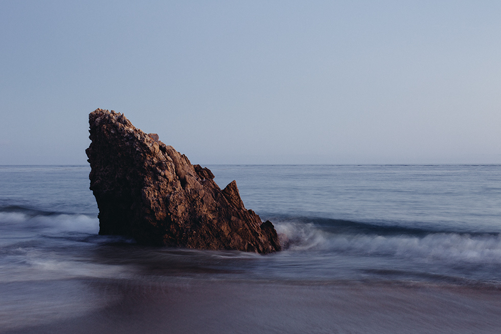 Tombstone rock at Corona Del Mar