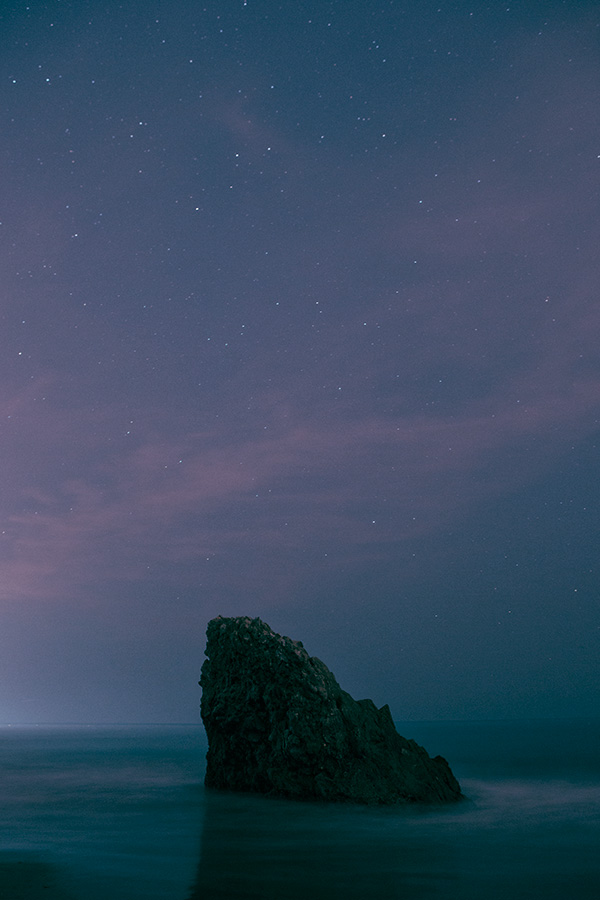 Corona Del Mar Rock at Night