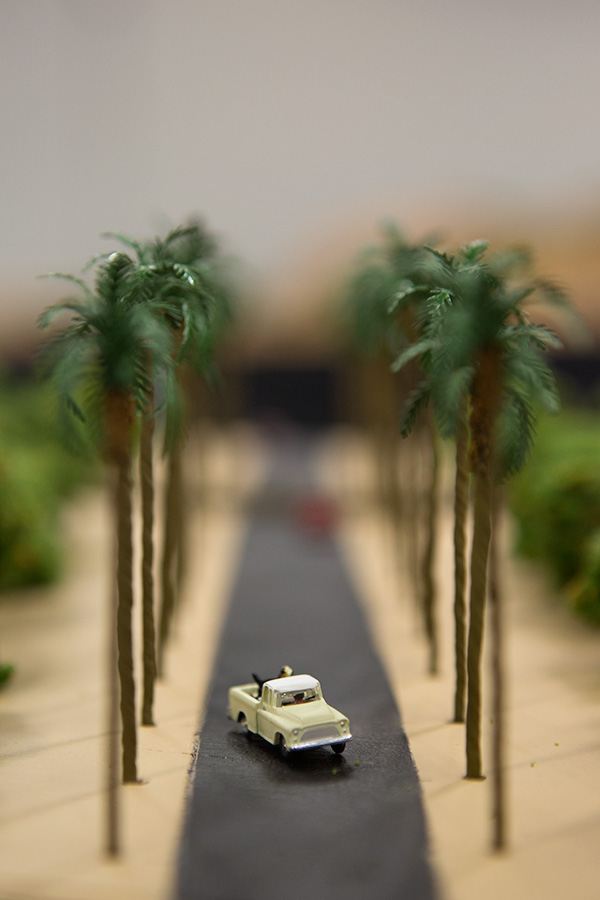 Anaheim Convention Center Model Train Expo-Truck with dog in bed