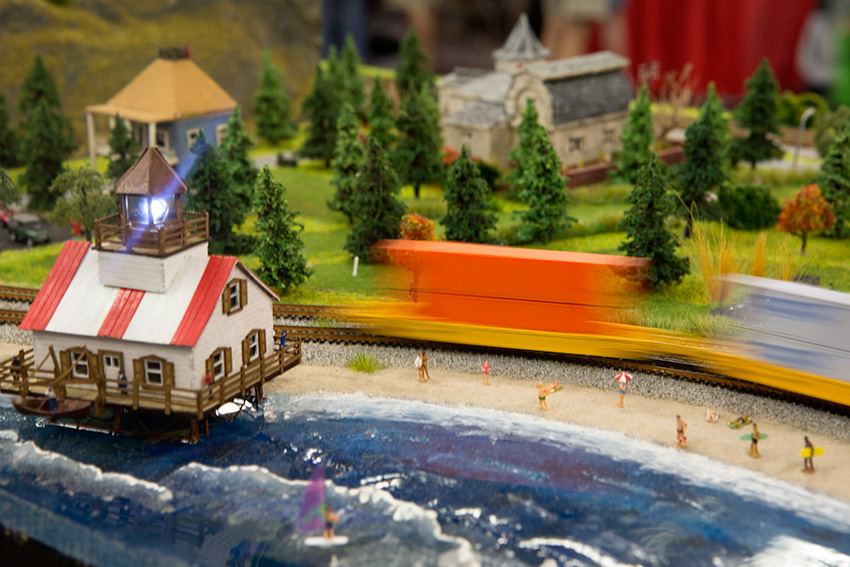 Anaheim Convention Center Model Train Expo-Light House