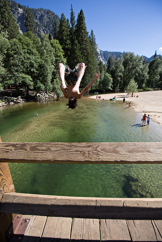 Yosemite bridge jumping