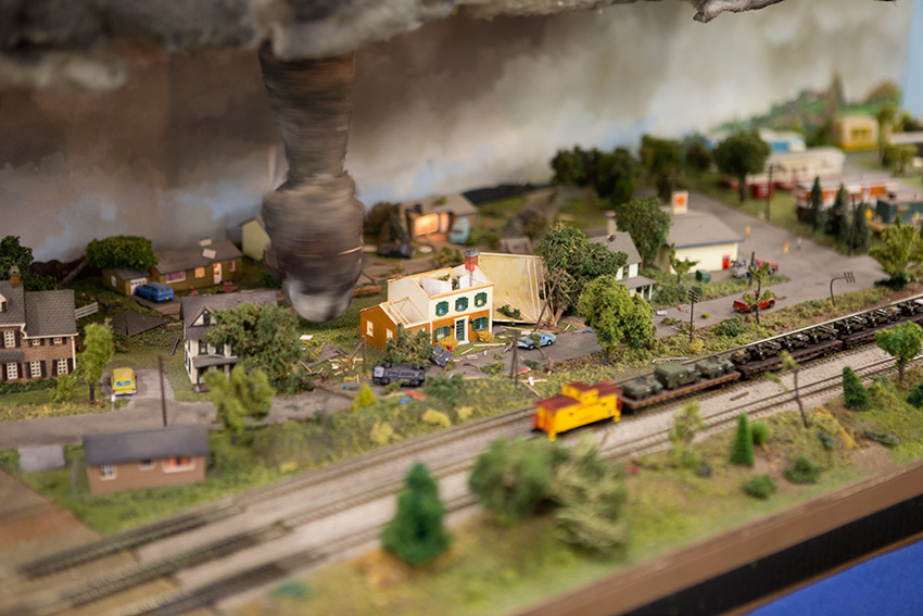 Anaheim Convention Center Model Train Expo-Working Tornado