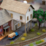Anaheim Convention Center Model Train Expo-Town Scene