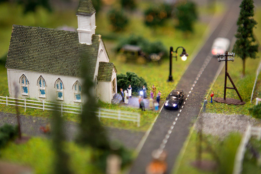 Anaheim Convention Center Model Train Expo-Wedding Photographer with Working Flash