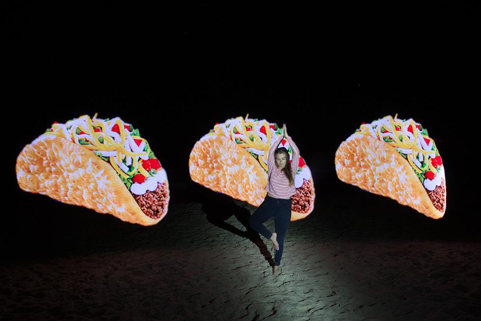 PixelStick yoga tacos