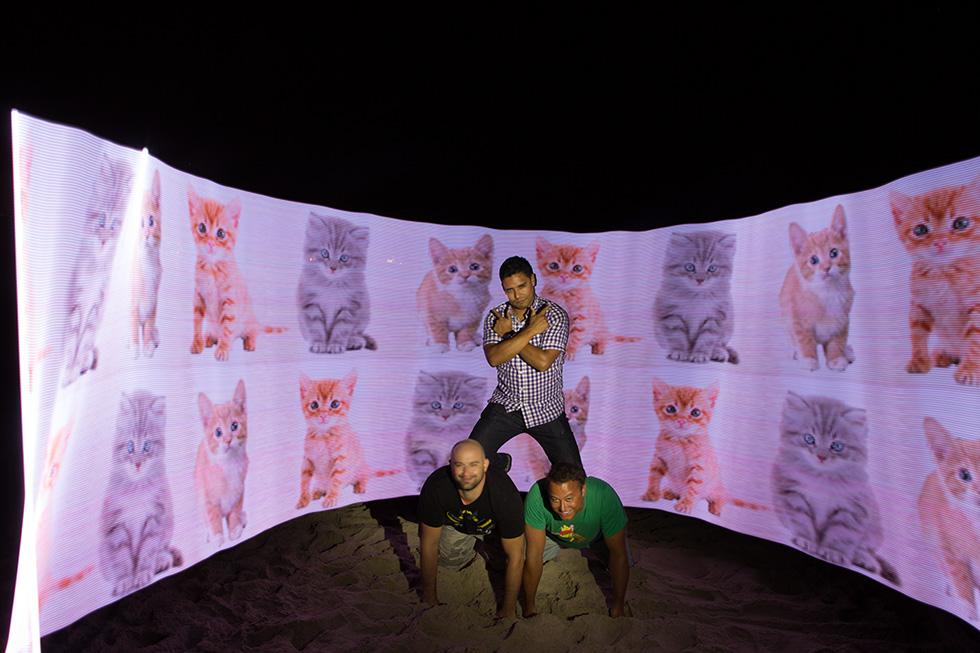 PixelStick pyramid cats