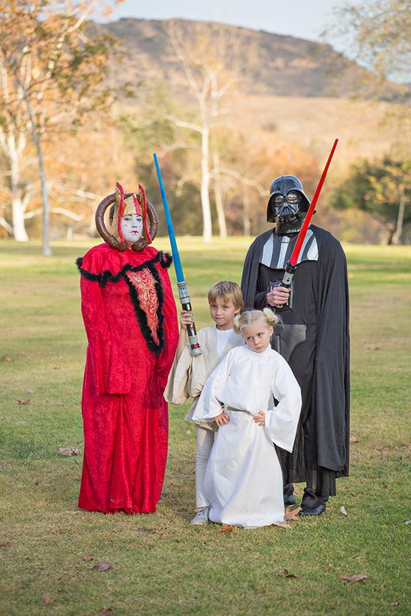 Star Wars Christmas card photos