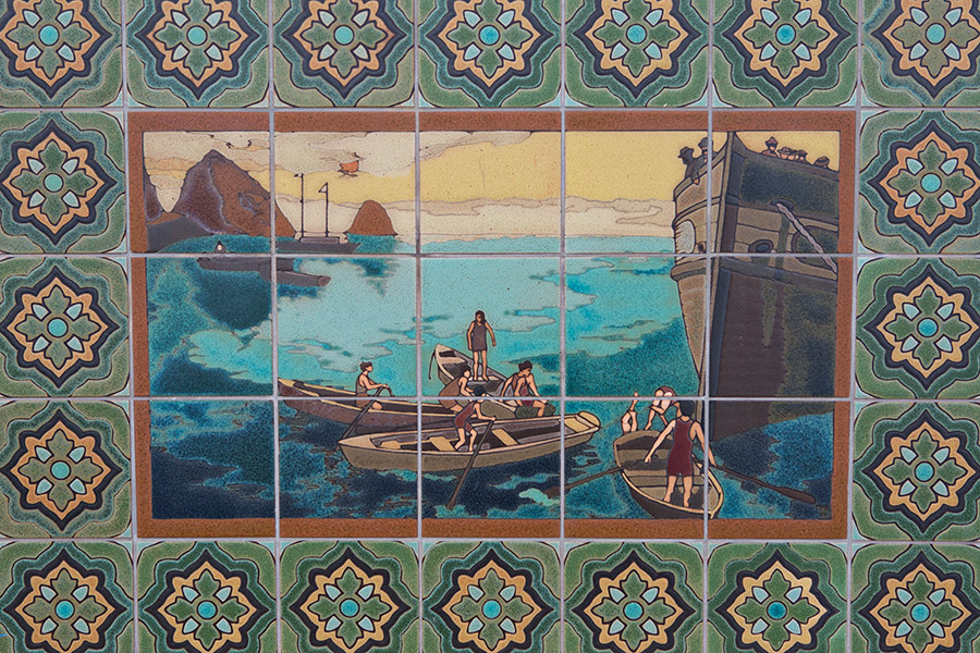 Ship mosaic on Catalina