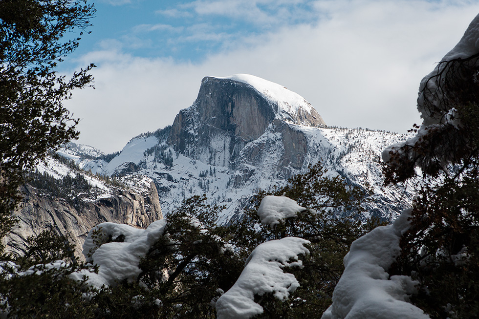 Half Dome in the winter
