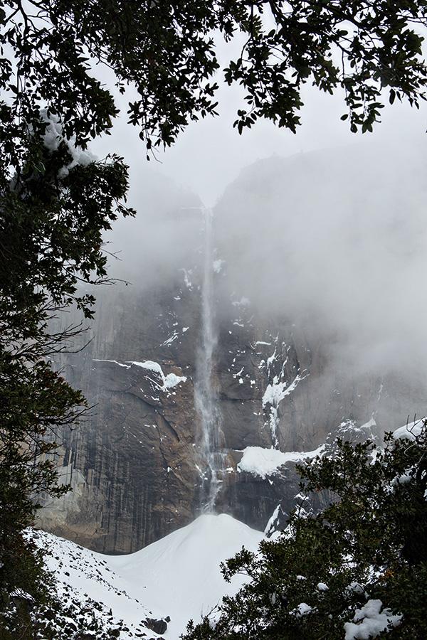 Upper Yosemite fall frozen