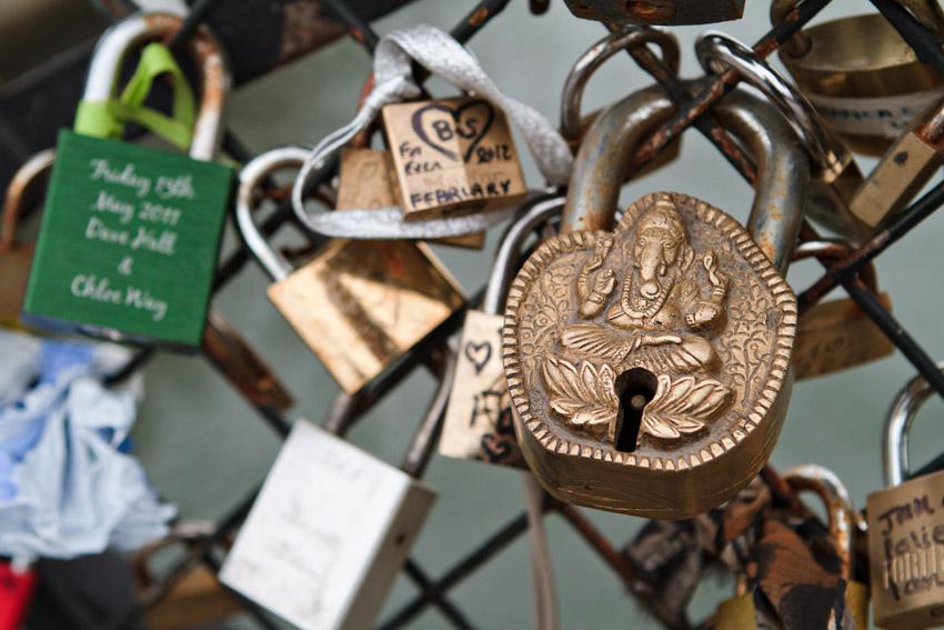 Interesting lock on bridge near Notre Dame