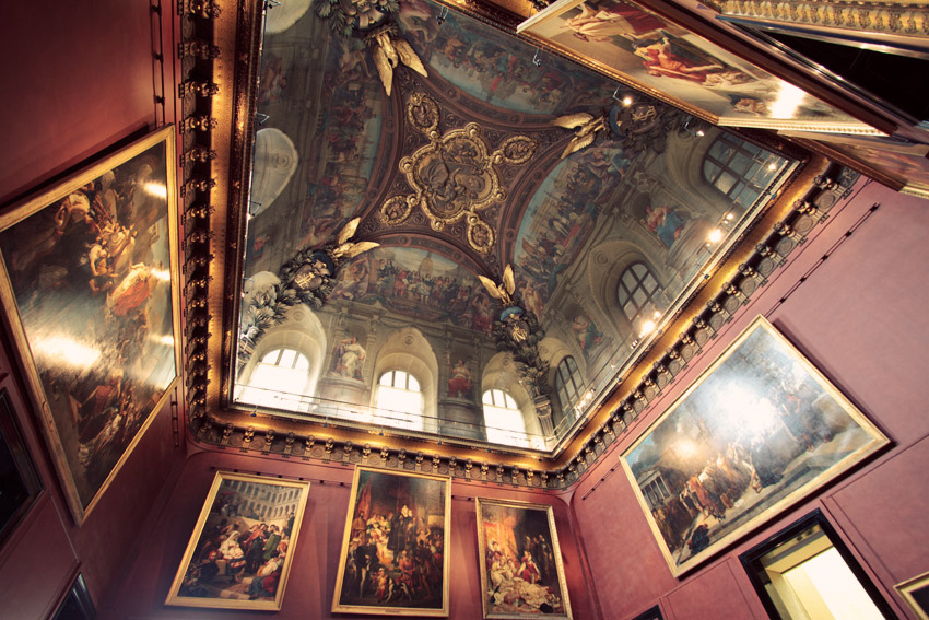 Interior of a room at the Louvre
