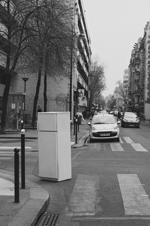 Lost fridge in Paris