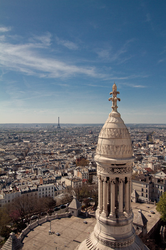 Eiffel Tower as seen from the top of Sacre-Coeur