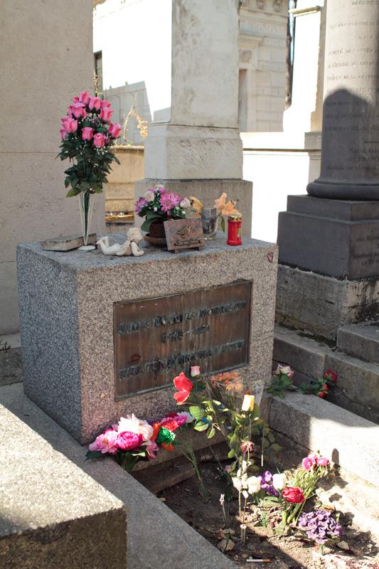Jim Morrison's grave at Pere Lachaise