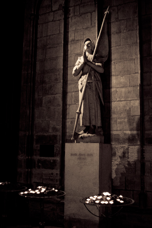 Statue of Joan of Arc in Notre Dame