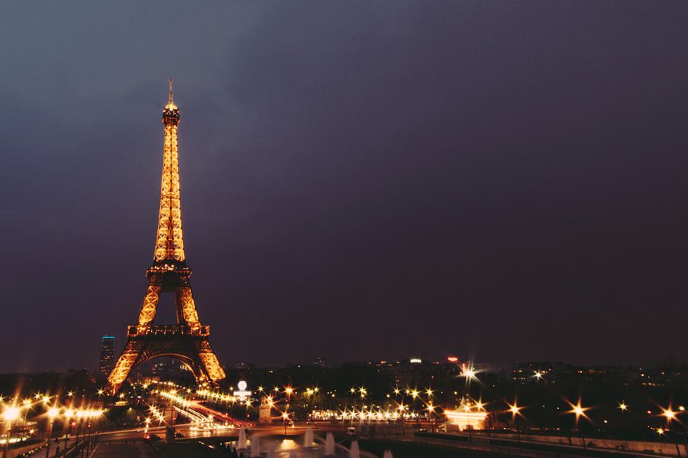 Eiffel Tower storm