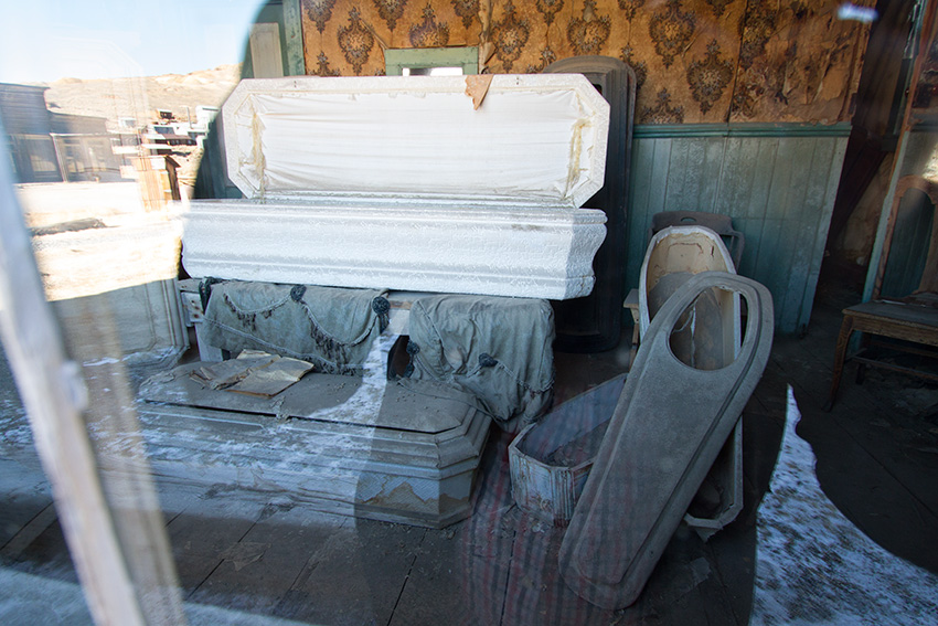 Jake Reinig Travel Photography | Bodie Ghost Town |  Undertaker, Mortuary, Coffins