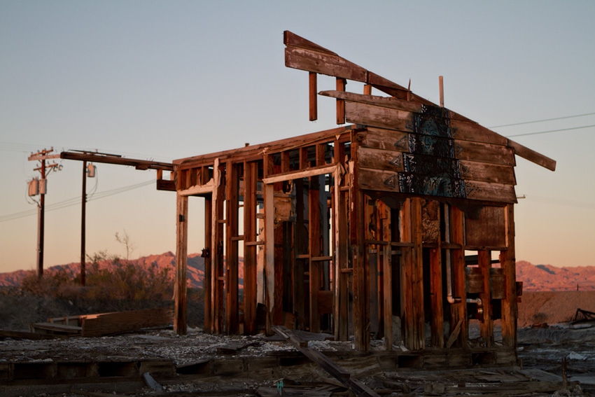 Building ruin, Bombay Beach