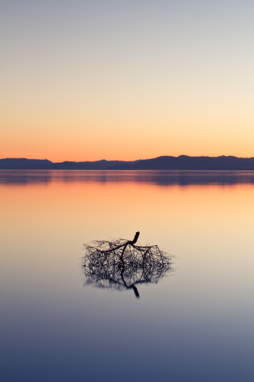 Salton Sea sunset long exposure