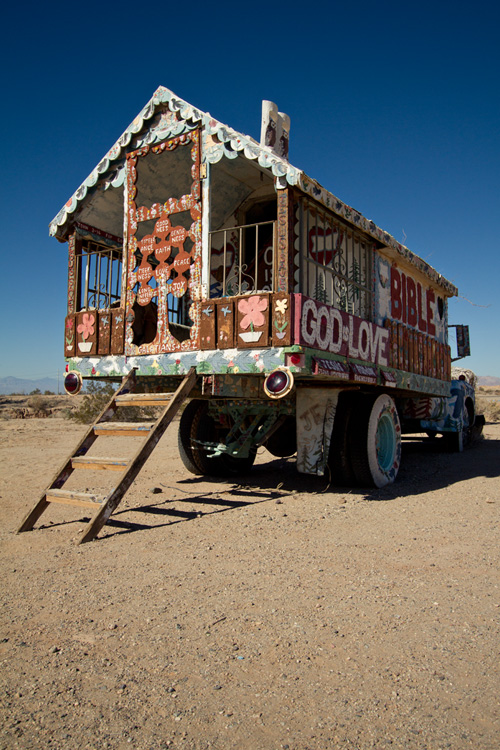 Salvation Mountain truck, Slab City, Salton Sea