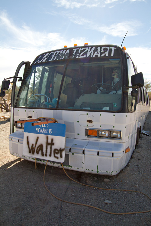 Walter the bus, East Jesus, Salton Sea