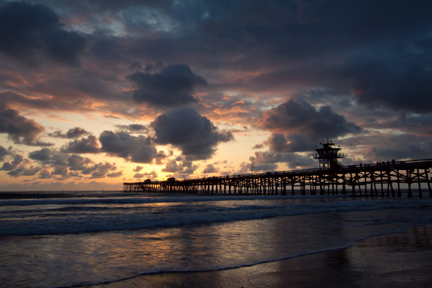 San Clemente pier at sunset