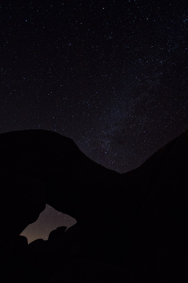 Joshua Tree milky way over arch rock
