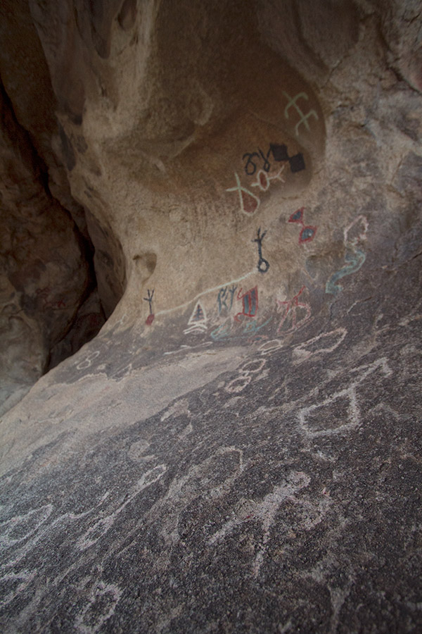 """Disney"" pictographs near Barker Dam at Joshua Tree"