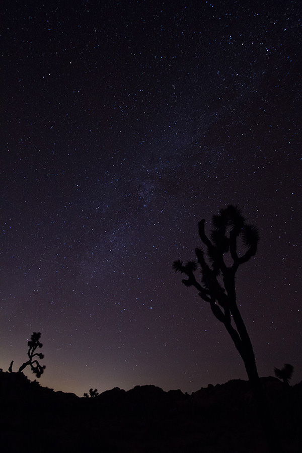 Milky way from the pictograph rock at Joshua Tree
