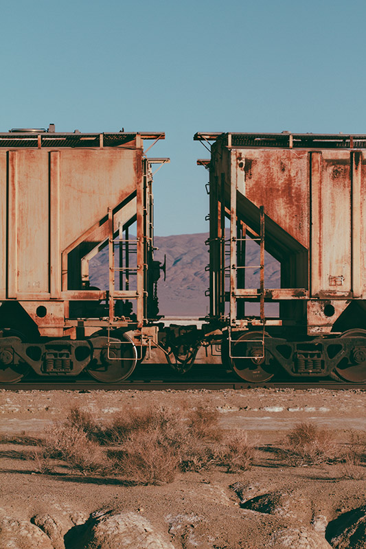 Jake Reinig Trona Pinnacles Abandoned Train Cars